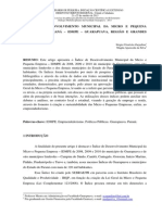 ͍ndice de desenvolvimento municipal da micro e pequena empresa no Paraná - IDMPE - Guarapuava, região e grandes municípios 10-2013 - S Zarpellon e M Silva