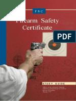 Firearm Safety Certificate Study Guide
