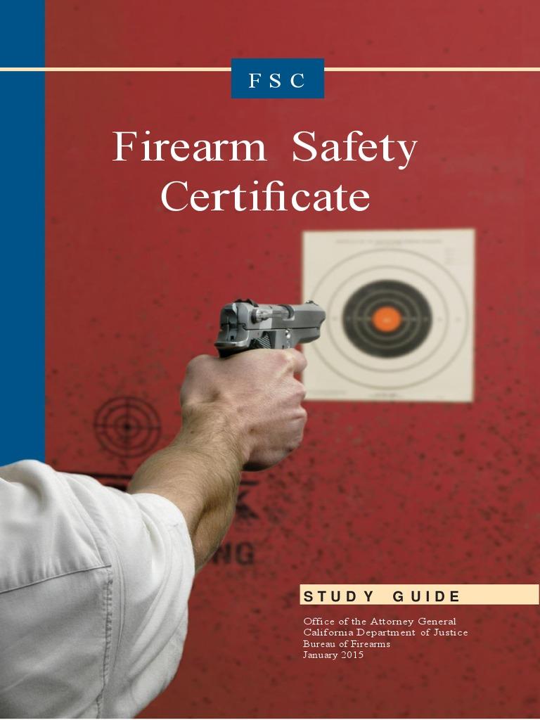 certificate safety firearm guide study firearms