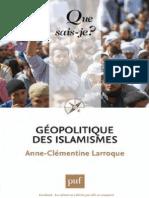 Larroque - Géopolitique Des Islamismes