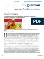 It's not so strange for a Buddhist to endorse killing | Stephen Jenkins | Comment is free | The Guardian