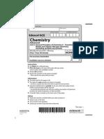 Edexcel GCE Chemistry Unit-5 June 2010 Question Paper