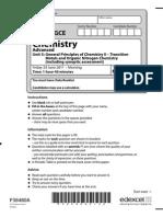 Edexcel GCE Chemistry Unit-5 June 2011 Question Paper