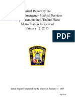 Initial Report on the LEnfant Plaza Metro Incident January-12-2015