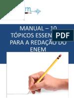 eBook Manual – 10 Tópicos Essenciais Para a Redação Do Enem
