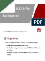 i Manager U2000 Full-Mesh VPLS Deployment ISSUE1.00