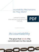 Current Accountability Mechanism in Nutrition