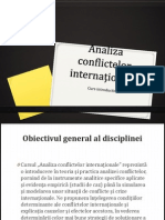 Analiza Conflictelor Internationale