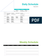 Belmont Fall '14 Schedule