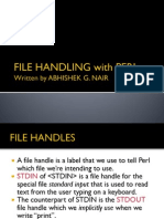 File Handling With Perl