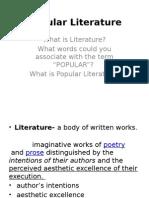 Popular Literature.- InTRO