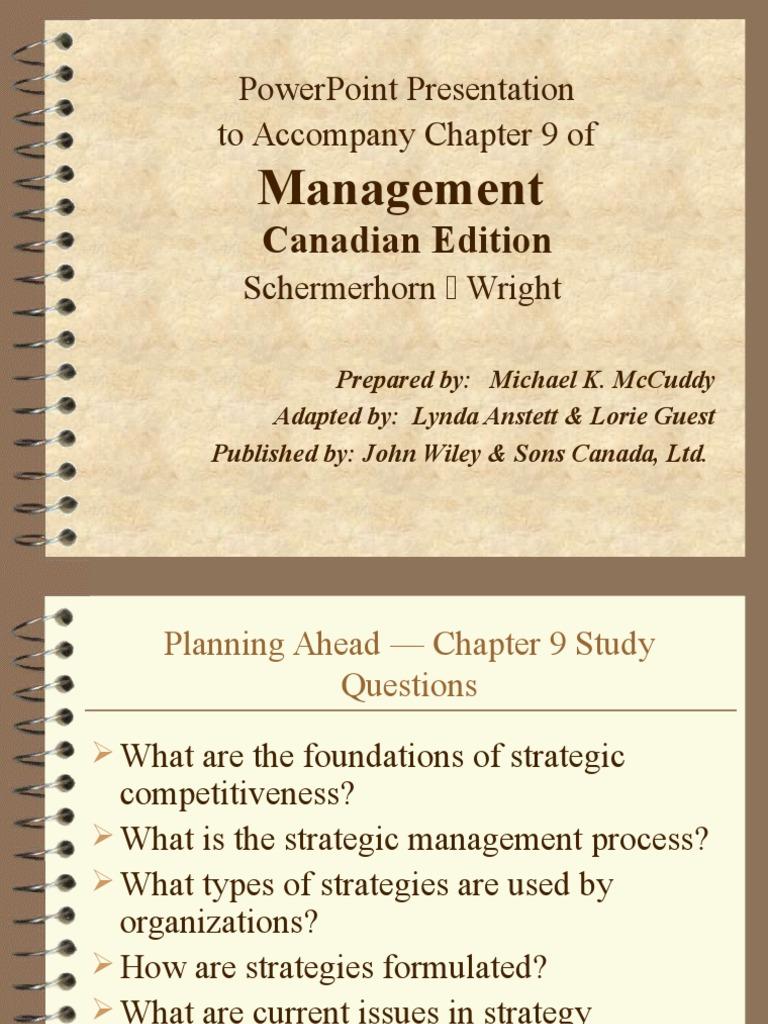 Management Planning   Strategic Management   Competitive