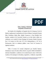 Sentencia SCJ Sobre Justicia Rogada Cuando Se Solicitan Penas Por Debajo Del Mínimo Legal.