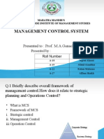 Management control Systerm