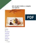 Atún Abrasado Con Puré Rústico y Compota de Cebolla a Las Especias