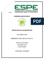 Informe Practica Inyeccion de Plastico