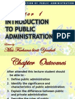 Chapter 1 - Introduction to Public Administration