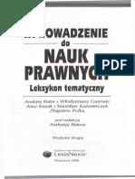 Wprowadzenie Do Nauk Prawnych. Leksykon Tematyczny. a. Bator