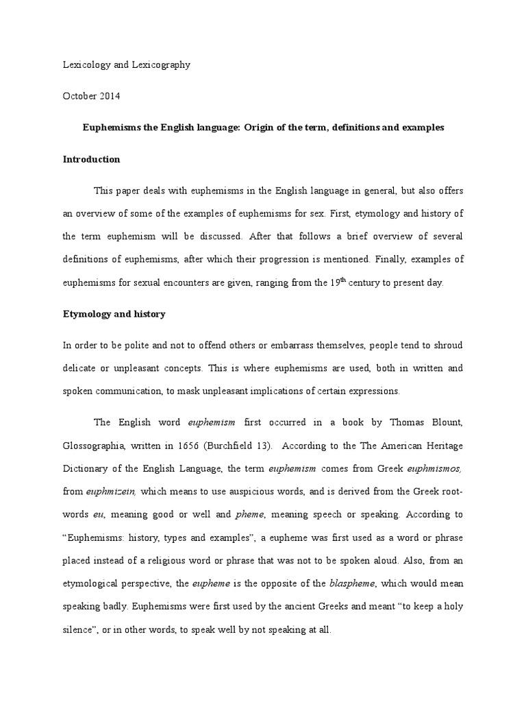 Euphemisms In The English Language Origin Of The Term Definitions