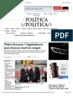 14-01-15 Piden Licencia 7 Legisladores Para Buscar Nuevos Cargos - Grupo Milenio