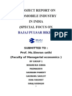 A project report on indian automobile industry
