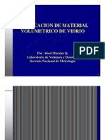 Verificación de Material Volumétrico de Vidrio