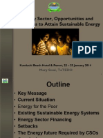 Challenges to Attain Sustainable Energy, 1-2014