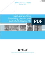 ESMAP 2006 Introducing Low Cost Methods for Distribution Networks in SSA