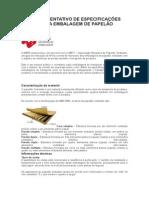 Especificações Técnicas Da Embalagem de Papelão Ondulado