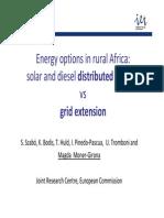 Grid vs Distributed-PV-Diesel in Africa