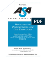Management of Postanesthesia Care Unit Emergencies