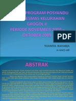 Evaluasi Program Posyandu Power Point2
