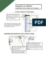 fiche 07 - manipulations colonnes et lignes