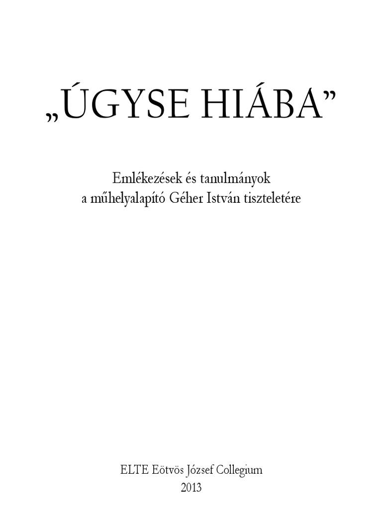 Géher István  Versei - Tanulmányok - Ugyse hiaba 60dcb40d09