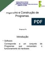 APRESENTAÇÃO Algoritmo e Construção de Programas