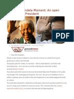 Maithri's Mandela Moment an Open Letter to the President
