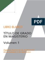 Libro Blanco_Título de Grado en Magisterio