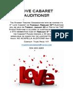 Love Cabaret Auditions