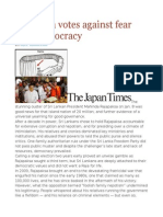 Sri Lanka Votes Against Fear and Kleptocracy