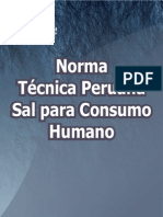Norma Tecnica Peruana Sal Para Consumo Humano-libre