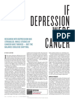 If Depression Were Cancer