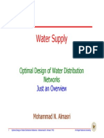 Optimal Design of Water Distribution Networks Overview