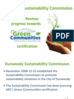 Dunwoody Sustainability Commission 2010 Annual Report