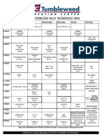 May Class Schedule