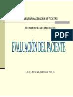 Evaluación Analítica Del Paciente