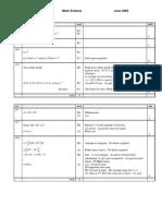 M1 Mark Scheme