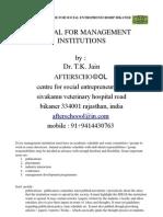 Mba Institute Manual