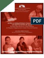 Entre la normatividad comunitaria y las instituciones de salud. Procesos reproductivos y prácticas de atención a la salud materna entre mujeres indígenas de la Costa Chica de Guerrero.