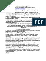 renewable energy webquest