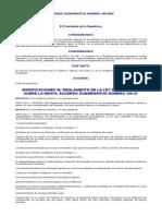 Modificaciones Al Reglamento de La Ley Del ISR AGN 185-2002